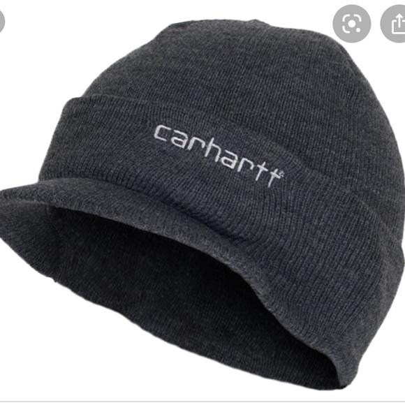 CARHARTT Gray Knit Hat With Visor